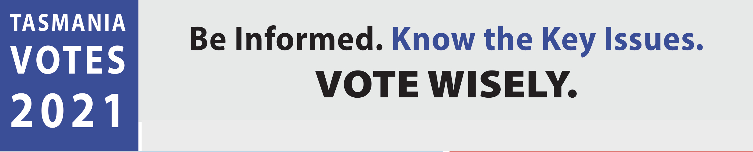 WA Election Vote Wisely website banner